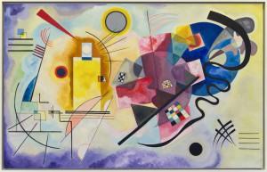 Huile sur toile (1925) de Vassily Kandinsky. Musée National d'Art Moderne, Paris, France. Donation Nina Kandinsky 1976. AM 1976-856